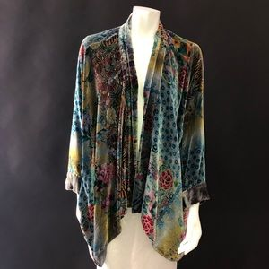 Johnny Was Dream Multi-Print Velvet Kimono Jacket